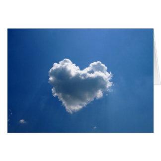 Cloud shape of a heart card