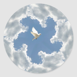 Cloud silver lining dove sticker