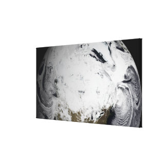 Cloud simulation of a single day 2 canvas print