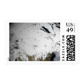 Cloud simulation of a single day 2 postage stamps