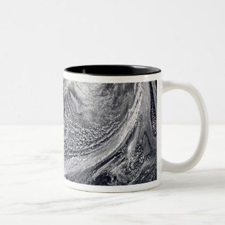 Cloud simulation of a single day 4 Two-Tone coffee mug