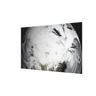 Cloud simulation of a single day canvas print