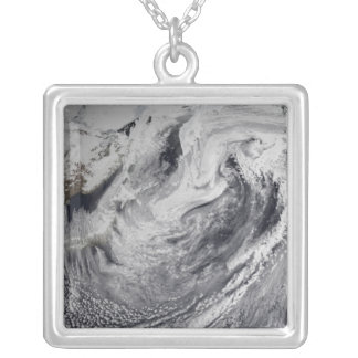 Cloud simulation of a single day silver plated necklace