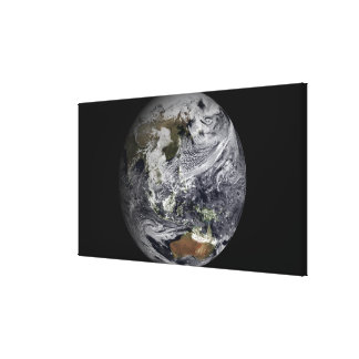 Cloud simulation of the full Earth Canvas Print