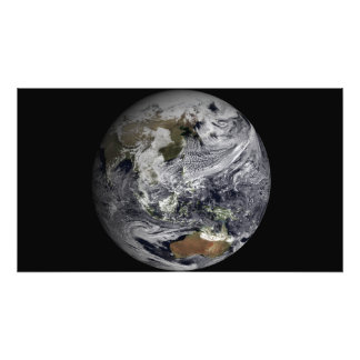 Cloud simulation of the full Earth Photo Print