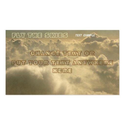 cloud sky business card