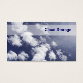 Cloud Storage Business Cards