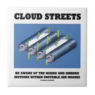 Cloud Streets Be Aware Of Rising Sinking Motions Small Square Tile