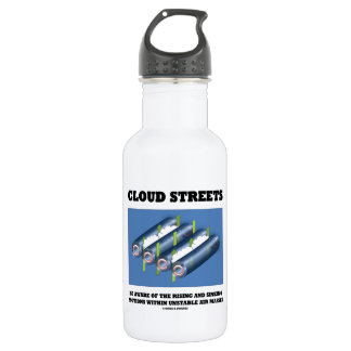 Cloud Streets Be Aware Of Rising Sinking Motions Water Bottle