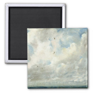 Cloud Study, 1821 (oil on paper laid down on board 2 Inch Square Magnet