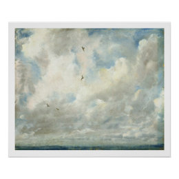 Cloud Study, 1821 (oil on paper laid down on board Poster