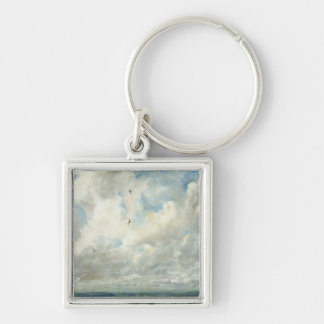Cloud Study, 1821 (oil on paper laid down on board Silver-Colored Square Keychain