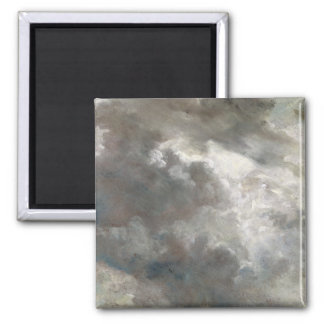 Cloud Study, 1821 (oil on paper laid down on paper 2 Inch Square Magnet
