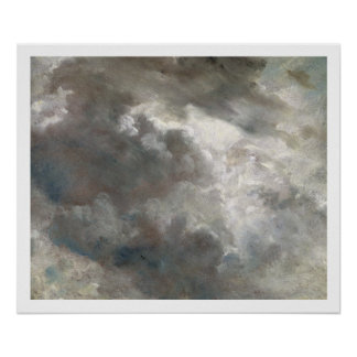 Cloud Study, 1821 (oil on paper laid down on paper Poster