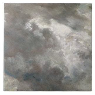 Cloud Study, 1821 (oil on paper laid down on paper Large Square Tile
