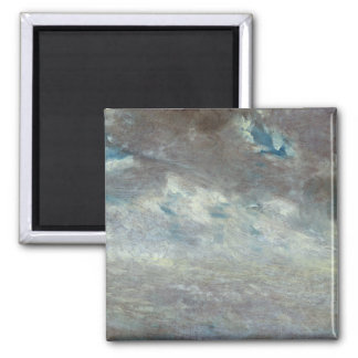 Cloud Study, 1821 (oil on paper on board) 2 Inch Square Magnet