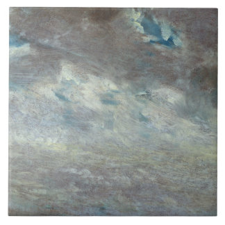 Cloud Study, 1821 (oil on paper on board) Large Square Tile