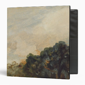 Cloud Study with Trees, 1821 (oil on paper laid do 3 Ring Binder