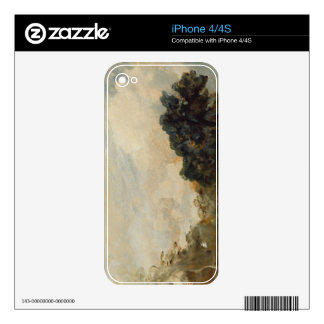 Cloud Study with Trees, 1821 (oil on paper laid do Decal For iPhone 4