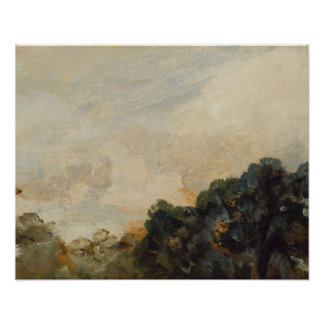 Cloud Study with Trees, 1821 (oil on paper laid do Poster