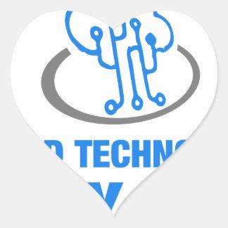 cloud technology is my life heart sticker