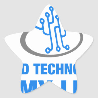 cloud technology is my life star sticker