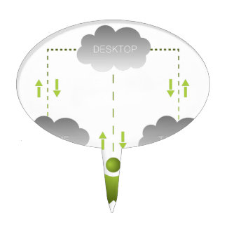 Cloud Technology Man Icon Cake Toppers