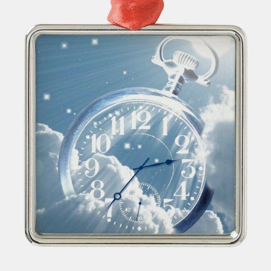 Cloud Time Metal Ornament