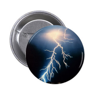 Cloud to Ground Lightning Pinback Button
