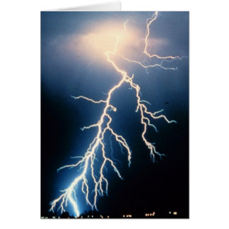 Cloud to Ground Lightning Greeting Card
