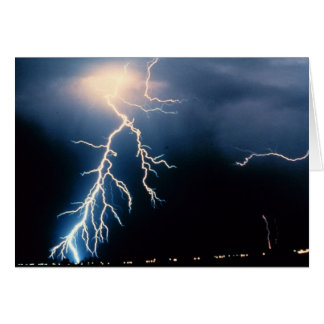 Cloud to Ground Lightning Greeting Cards