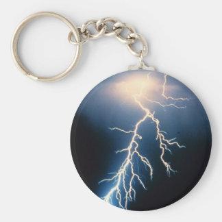 Cloud to Ground Lightning Keychain