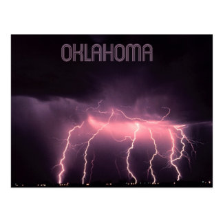 Cloud-to-Ground Lightning, Oklahoma Postcard