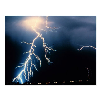 Cloud to Ground Lightning Post Cards