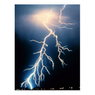 Cloud to Ground Lightning Postcard