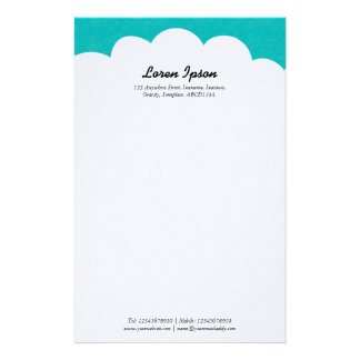 Cloud Top - Turquoise Stationery