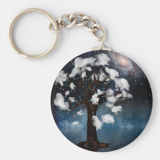 Cloud Tree Keychain
