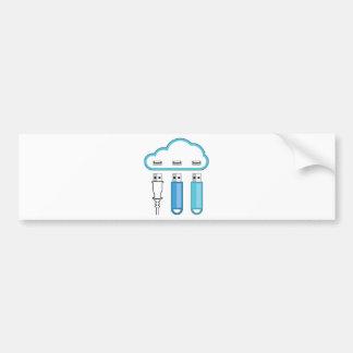 Cloud USB hub Bumper Sticker