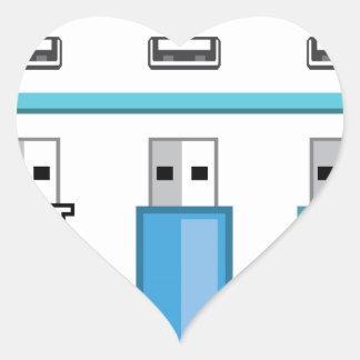 Cloud USB hub Heart Sticker