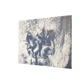 Cloud vortices in the area of the Canary Island Gallery Wrap Canvas