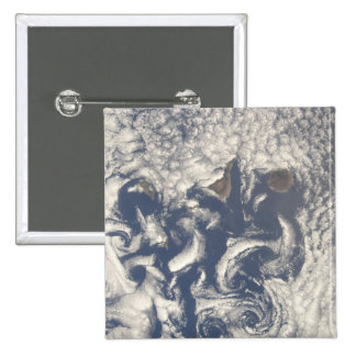 Cloud vortices in the area of the Canary Island Pinback Button