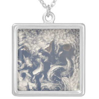 Cloud vortices in the area of the Canary Island Silver Plated Necklace