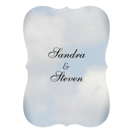 Cloud Wedding Invitations