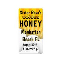 Cloudburst Honey Jar Personalized Label