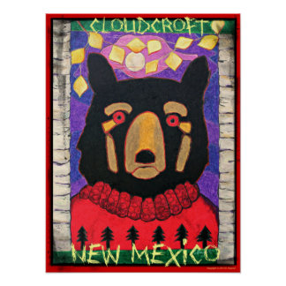 Cloudcroft, New Mexico Black Bear in Sweater Poster