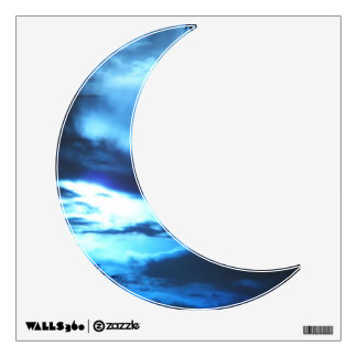 Clouded Blue Moon Wall Decal
