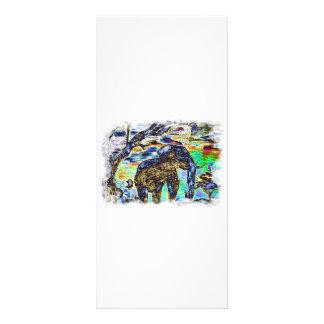 Clouded-Colour- Elephant Rack Card