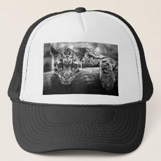 clouded leopard cat trucker hat