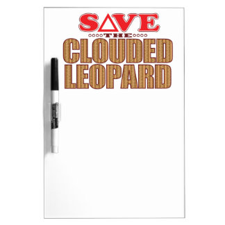 Clouded Leopard Save Dry-Erase Board