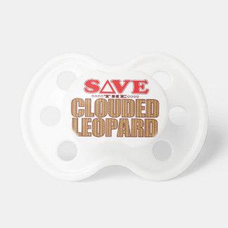 Clouded Leopard Save Pacifier